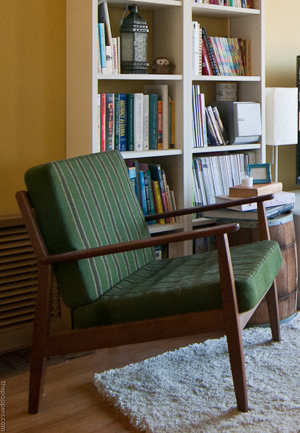 Re Upholstering A Midcentury Chair The Poopers
